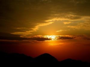rod_solnedgang